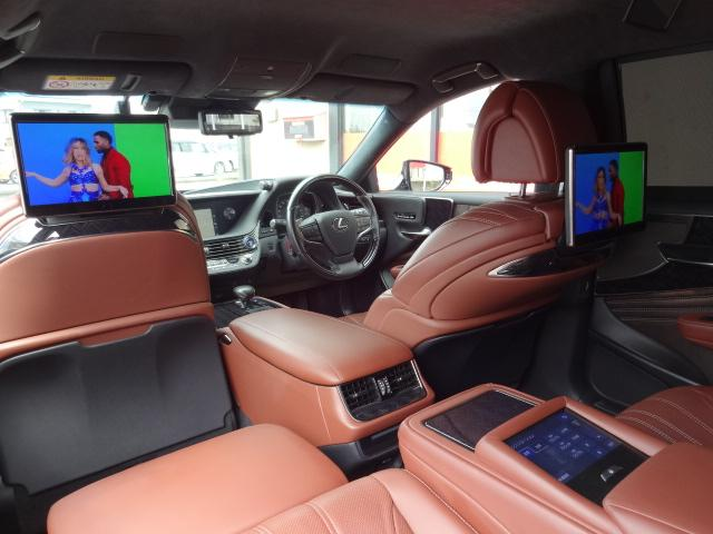 LS500h エグゼクティブ 法人1オーナー車 リアエンター後席モニター 限定オプションL-アニリン本革シート  純正オプション20インチAWブラック仕様 ローダウン マークレビンソン オートトランク ヘッドアップディスプレイ(45枚目)