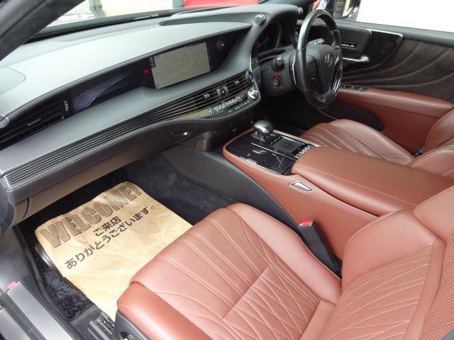 LS500h エグゼクティブ 法人1オーナー車 リアエンター後席モニター 限定オプションL-アニリン本革シート  純正オプション20インチAWブラック仕様 ローダウン マークレビンソン オートトランク ヘッドアップディスプレイ(54枚目)