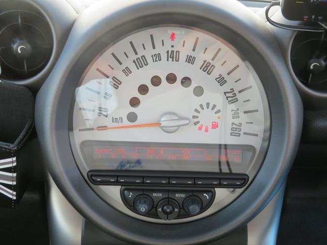 クーパー クロスオーバー 社外ナビTV ETC キセノンライト フォグランプ 純正17インチアルミ キーレス プッシュ式スタート ルーフレール(30枚目)