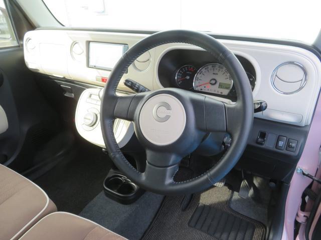 ココアプラスXスペシャルコーデ 純正SDナビ フルセグTV Bluetooth スマートキー エコアイドル クリアテール フォグランプ ルーフレール ウインカーミラー 専用シート ベンチシート(13枚目)