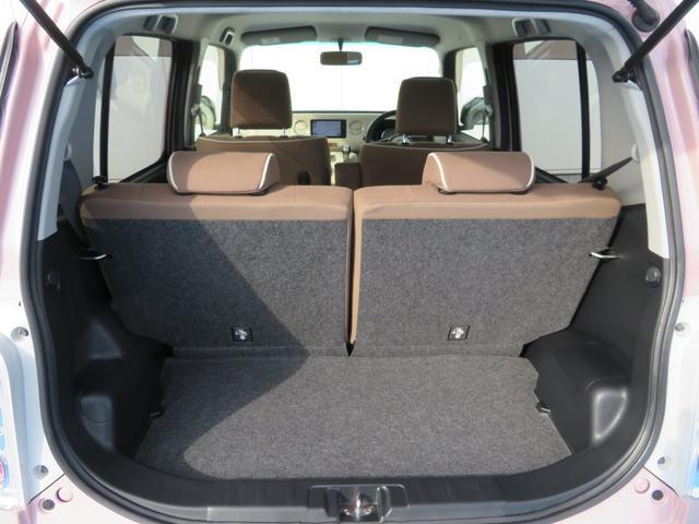 ココアプラスXスペシャルコーデ 純正SDナビ フルセグTV Bluetooth スマートキー エコアイドル クリアテール フォグランプ ルーフレール ウインカーミラー 専用シート ベンチシート(18枚目)