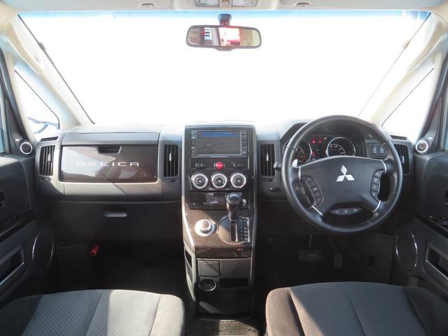 G ナビパッケージ 4WD JAOSマッドガード シートヒーター 純正HDDナビ フルセグTV ミュージックサーバー フロント&サイド&バックカメラ ETC パドルシフト 両側パワースライド キセノン タイミングチェーン(11枚目)