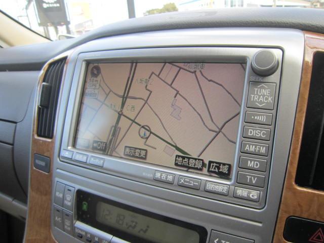 トヨタ アルファードV MX Lエディション純正メーカーオプションHDDナビ地デジ