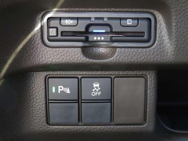 L インターナビ Rカメラ CD DVD再生 CD録音 フルセグTV オーディオステアリングスイッチ オート付LEDヘッドライト 左電動スライドドア ETC リアテーブル シートヒーター ホンダセンシング(7枚目)