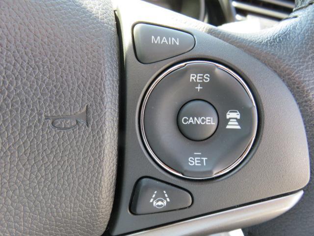 ホンダセンシングのひとつ。アダプティブクルーズコントロール!高速道路等で大活躍!前走車を検知、車間距離と車速を適切に制御することを助けてくれます!