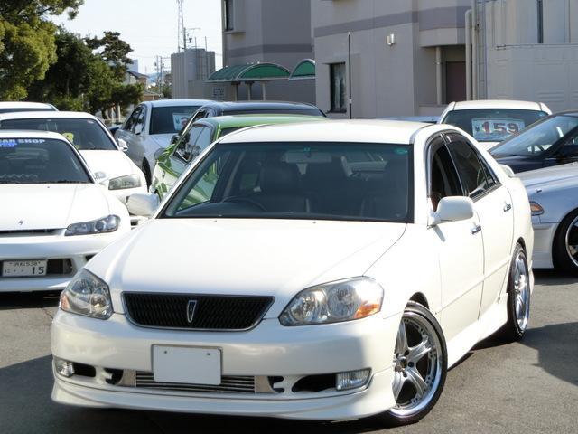 トヨタ マークII グランデiR-V VOLK18インチ ローダウン 黒革シート