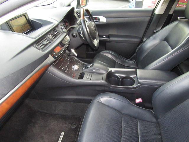 CT200h バージョンL 1年保証付 LEDヘッドライト HDDナビ レザーシート オートライト バックカメラ スマートキー コーナーセンサー CD・DVD再生 フルセグ ETC プッシュスタート パワーシート シートヒーター(24枚目)
