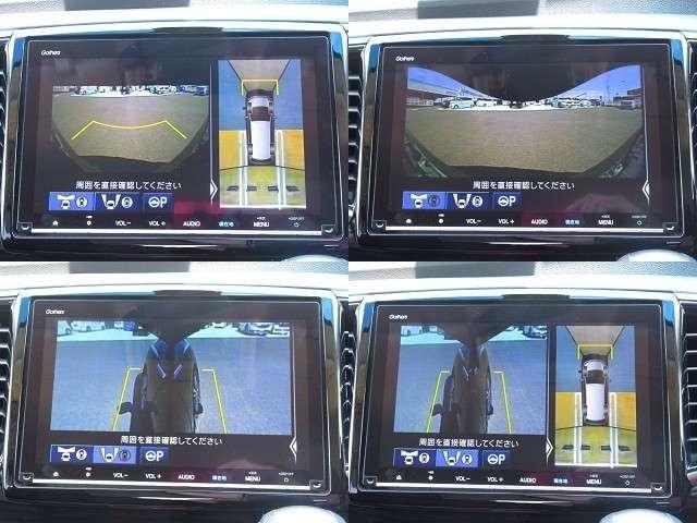 ハイブリッドアブソルート・EXホンダセンシング 純正9インチプレミアムナビ フルセグDVD CD録音 DVD マルチビューカメラ 11インチ後席ルーフモニター 運転席パワーシート バックソナー 7人乗りクレードルシート(16枚目)