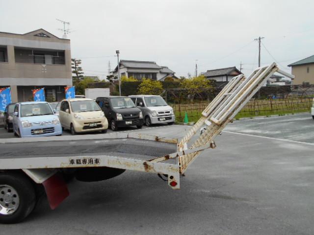 日産 アトラストラック 積載車 リモコン付ウインチ メッキバンパー ハイルーフ