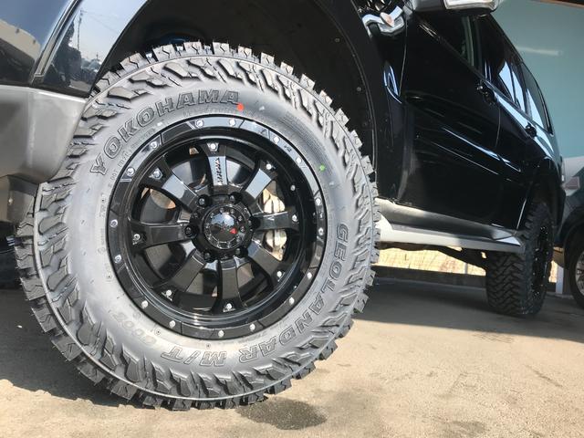 ロング GR MKW/MK46アルミ 2インチリフトアップ M/Tタイヤ HDDナビ地デジ バックカメラ ディーゼル ルーフレール キセノンライト 背面タイヤ(19枚目)