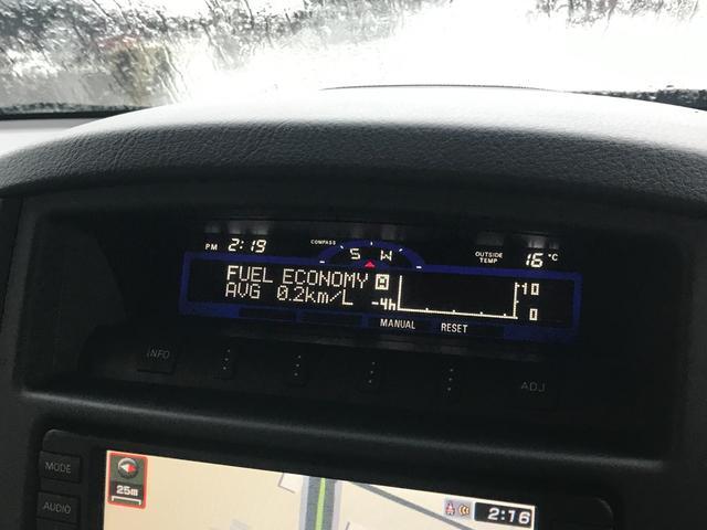ロング SUPER EXCEED MKW/MK46ML+17AW リフトアップ A/Tタイヤ HDDナビ シートヒーター Pシート ETC クルーズコントロール 3列7人 ETC ロックフォード 本革シート(34枚目)
