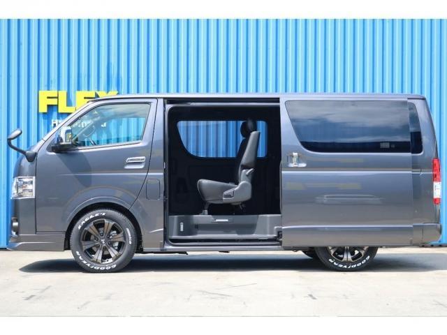 スーパーGL ダークプライムII ロングボディ 床貼り施工 FLEXオリジナルカスタム車両 地デジフルセグナビ ビルトインETC PVM全方位カメラ FLEXフロントスポイラー FLEXオーバーフェンダー FLEXアーバングランデホイール(8枚目)