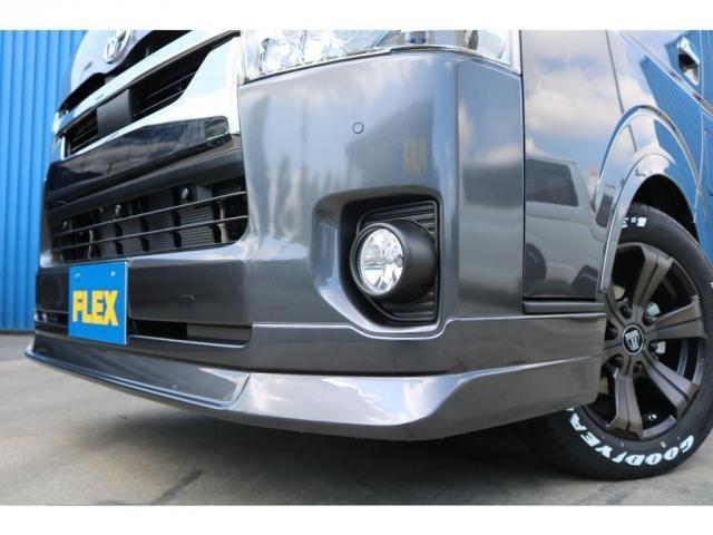 スーパーGL ダークプライムII ロングボディ 床貼り施工 FLEXオリジナルカスタム車両 地デジフルセグナビ ビルトインETC PVM全方位カメラ FLEXフロントスポイラー FLEXオーバーフェンダー FLEXアーバングランデホイール(21枚目)