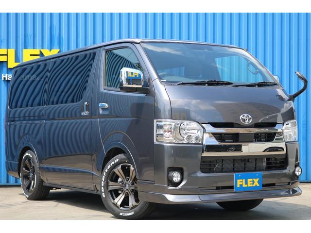 スーパーGL ダークプライムII ロングボディ 床貼り施工 FLEXオリジナルカスタム車両 地デジフルセグナビ ビルトインETC PVM全方位カメラ FLEXフロントスポイラー FLEXオーバーフェンダー FLEXアーバングランデホイール(40枚目)