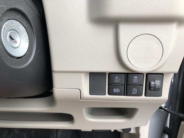 ヘッドライトのレべライザースイッチ(画像右端)
