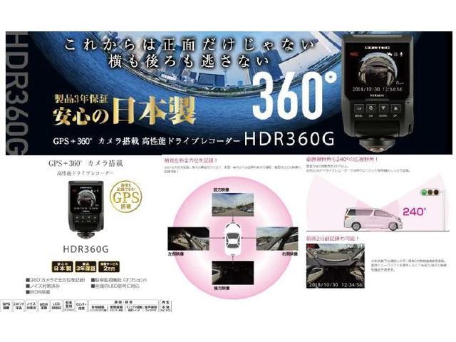 オプション品:360度カメラでトラブルから身を守る。証拠を残す。突然の事故を全て記録!煽り運転対策に!