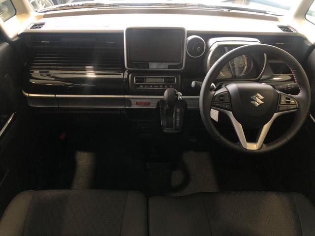 ハイブリッドXSターボ 届出済未使用車 Mz新車コンプリート ダウンサスVer フロントエアロ リヤエアロ ダウンサス カッターマフラー 16インチAW(10枚目)