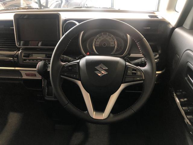 ハイブリッドXSターボ 届出済未使用車 Mz新車コンプリート ダウンサスVer フロントエアロ リヤエアロ ダウンサス カッターマフラー 16インチAW(11枚目)
