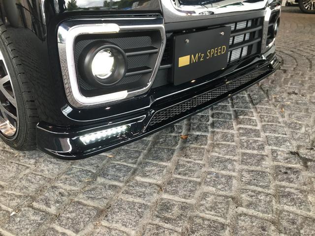 ハイブリッドXSターボ 届出済未使用車 Mz新車コンプリート ダウンサスVer フロントエアロ リヤエアロ ダウンサス カッターマフラー 16インチAW(30枚目)