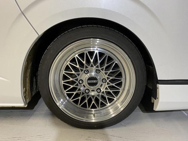 ロングスーパーGLプライムセレ CRSユーズドコンプリートカー入庫・4型フェイスチェンジ・ヴァレンティーLEDヘッドライト・ESSEX18インチAW・エアロバンパー・Fリップスポイラー・ケンウッドSDナビ・シートカバー・ベットキット(35枚目)