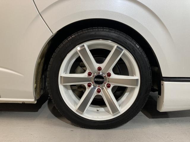 ロングスーパーGL 自社ユーザー買取車・ES18インチAW・フロントリップッスポイラー・リアスムージングバンパー・シートカバー・ケンウッドSDナビゲーション・HIDヘッドライト・ホワイトパール・AC100V電源(43枚目)
