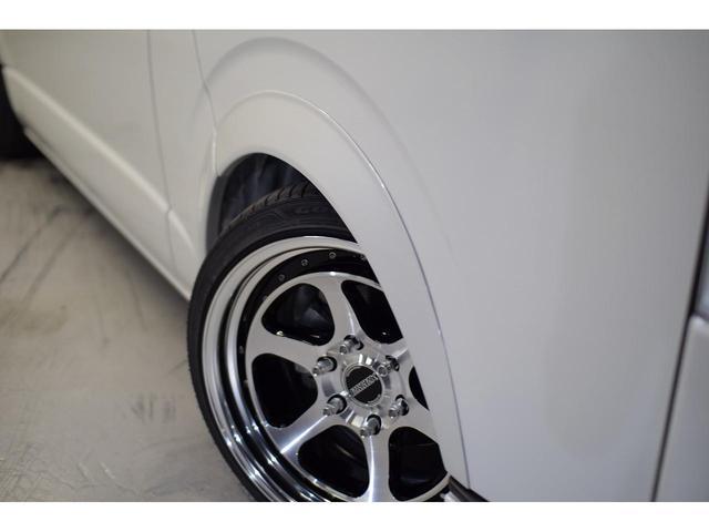 スーパーGL ダークプライムII CRSスタイルパッケージ カスタムカー ESSEXフロントリップスポイラー 深リム2ピースホイール EL-19ブラックポリッシュ オーバーフェンダー 3インチローダウン 車中泊ベッドキット(13枚目)