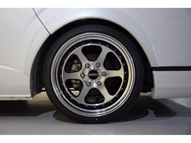 スーパーGL ダークプライムII CRSスタイルパッケージ カスタムカー ESSEXフロントリップスポイラー 深リム2ピースホイール EL-19ブラックポリッシュ オーバーフェンダー 3インチローダウン 車中泊ベッドキット(17枚目)