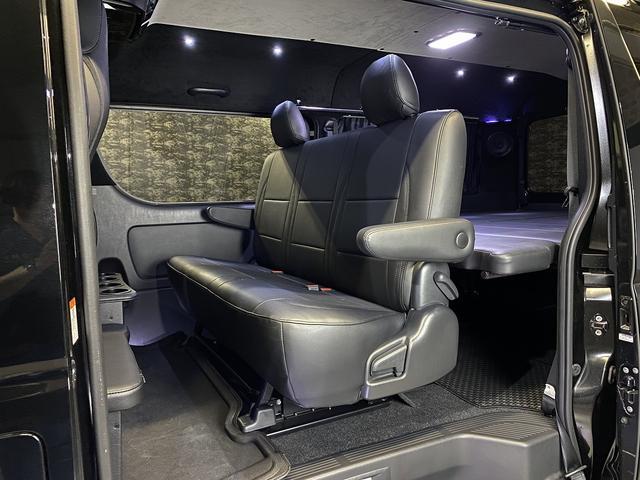 スーパーGL ダークプライム 自社ユーザー様買取・ワンオーナー・TRD16インチAW・3ナンバー乗用車登録・2インチリフトアップ・床フローリング・フェリソニン全面施工・マルチウェイベットキット・内装張り替え・スキッドバー・クルスロ(49枚目)