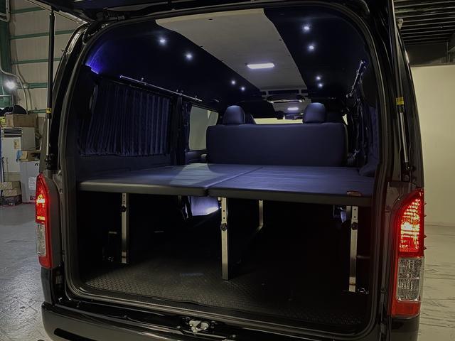 スーパーGL ダークプライム 自社ユーザー様買取・ワンオーナー・TRD16インチAW・3ナンバー乗用車登録・2インチリフトアップ・床フローリング・フェリソニン全面施工・マルチウェイベットキット・内装張り替え・スキッドバー・クルスロ(53枚目)