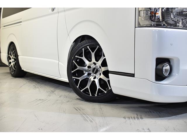 スーパーGL ダークプライムII CRSコンプリート ESSEXフロントリップスポイラー 18インチアルミホイール タイヤ18インチ ESSEXローダウンブロック ボンネット 車中泊ベッドキット(9枚目)
