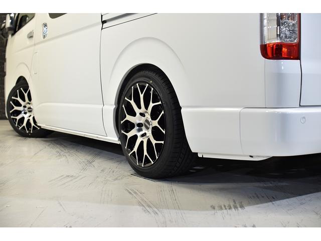 スーパーGL ダークプライムII CRSコンプリート ESSEXフロントリップスポイラー 18インチアルミホイール タイヤ18インチ ESSEXローダウンブロック ボンネット 車中泊ベッドキット(25枚目)