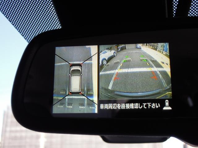 バック連動のモニターを装備☆シフトレバーをバックに入れるとルームミラーのモニターに表示■後方視界は良好で車庫入れをしっかりサポートします。