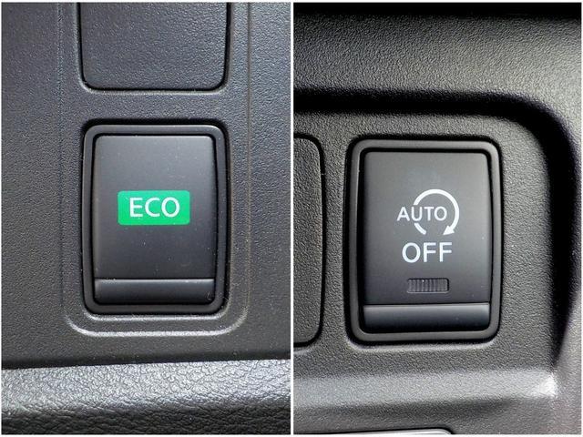 ECOモードはトータル制御で実用燃費を向上させてくれます。信号待ちなどの停車時に自動的にエンジンが止まり、燃料の消費を抑えるアイドリングストップも付いています!!