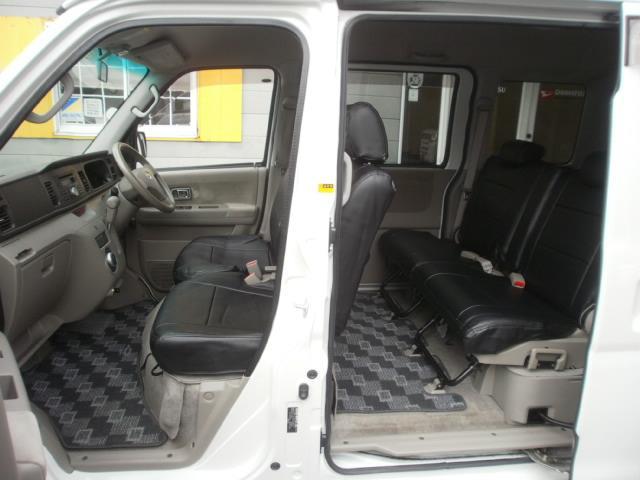 ダイハツ アトレーワゴン カスタムターボRSリミテッド Pスライド 黒革調シートカバー