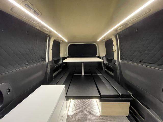 キャンピングカー トランポ 新品架装 車中泊 8ナンバー キャンパー ベッドキット サブバッテリー 走行充電器 USB/DC電源 バンコン 事務室 移動販売車(8枚目)