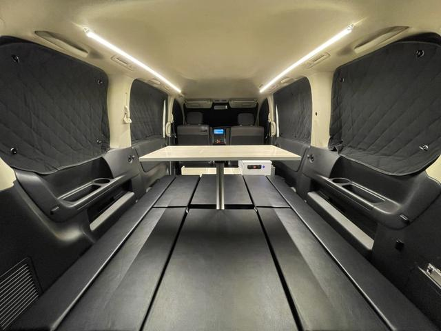 キャンピングカー トランポ 新品架装 車中泊 8ナンバー キャンパー ベッドキット サブバッテリー 走行充電器 USB/DC電源 バンコン 事務室 移動販売車(9枚目)