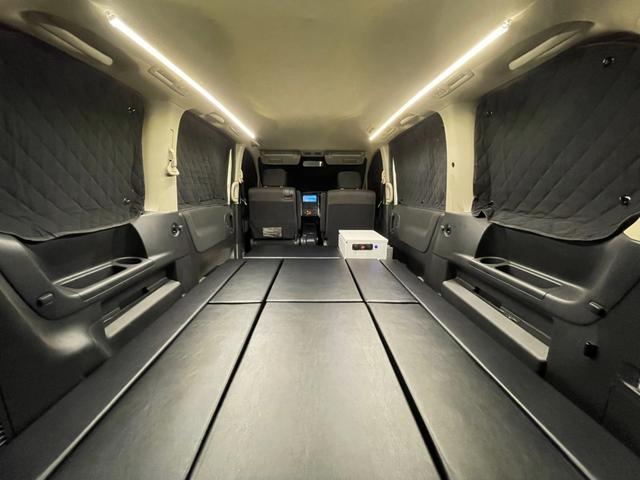 キャンピングカー トランポ 新品架装 車中泊 8ナンバー キャンパー ベッドキット サブバッテリー 走行充電器 USB/DC電源 バンコン 事務室 移動販売車(10枚目)