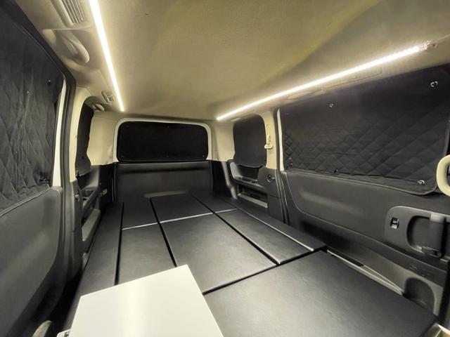 キャンピングカー トランポ 新品架装 車中泊 8ナンバー キャンパー ベッドキット サブバッテリー 走行充電器 USB/DC電源 バンコン 事務室 移動販売車(12枚目)
