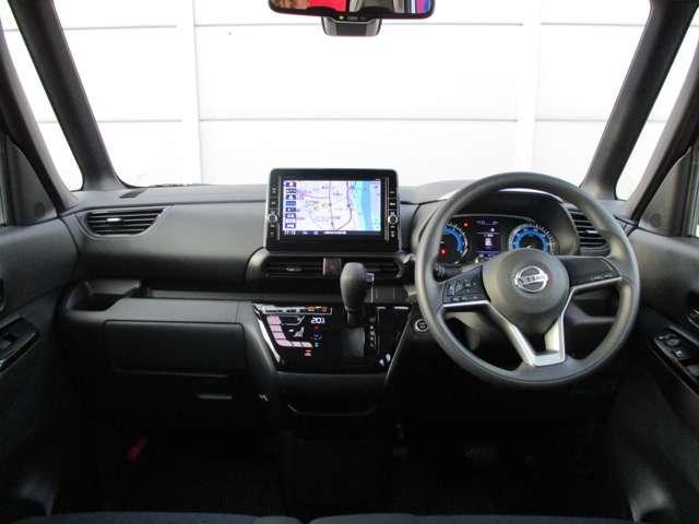 ハイウェイスターX 踏み間違い防止装置 被害軽減ブレーキ メモリーナビ フルセグTV アラウンドビューモニター ETC インテリキー ハンズフリー左側電動スライドドア SOSコール LEDライト(4枚目)