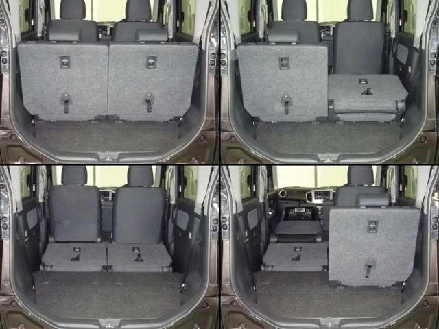 シートを倒せばロードバイクが2台積み込めるサイズの荷室です。