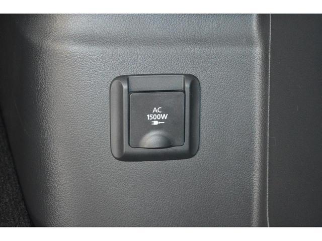 AC100Vのコンセントを装備。最大1500Wまで電力を取り出せますので、アウトドアでのご使用はもちろん、災害等の緊急事態の備えにもお役立ていただけます☆