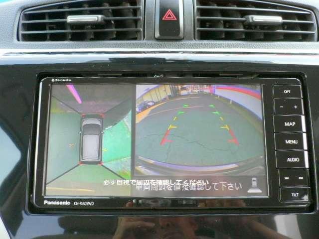 周囲の状況が分かるアラウンドビューモニター搭載。苦手な縦列駐車もこれがあれば安心ですね。