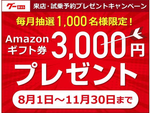 2019年11月30日迄にグーネットのオンライン予約を活用し実際にご来店された方毎月抽選1,000名様にアマゾンギフト券3,000円プレゼント♪来店・試乗予約キャンペーンはグーネットのキャンペーンです