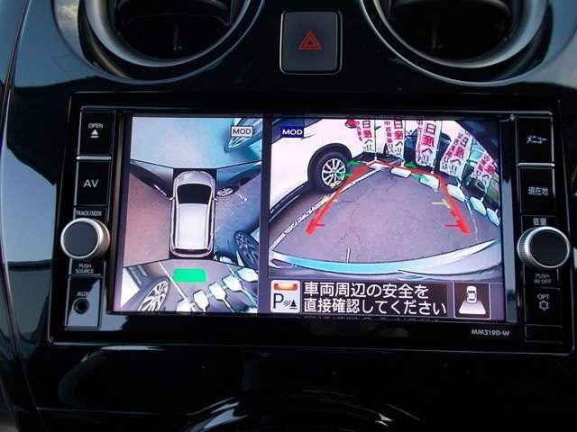 アラウンドビューモニター!空から見下ろしているかのような映像を映し出します。駐車時には安心ですよね♪