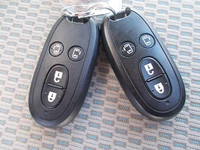 リクエストスイッチを押すだけで、ドアのロック・アンロックができるインテリジェントキーです!