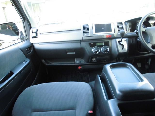 トヨタ ハイエースバン ロングスーパーGL ナビフルセグバックカメラリアシートベルト