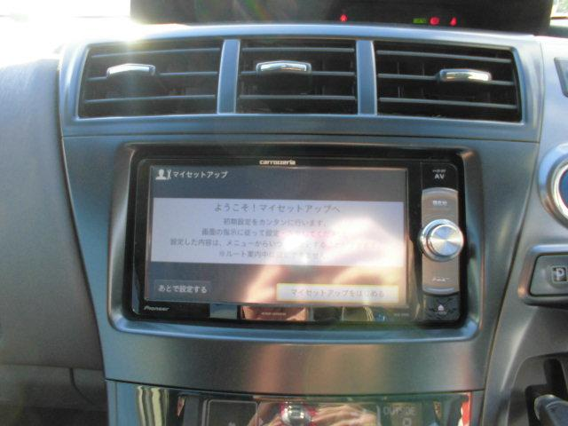 トヨタ プリウスアルファ S チューン ブラック 社外メモリナビTV インテリキー
