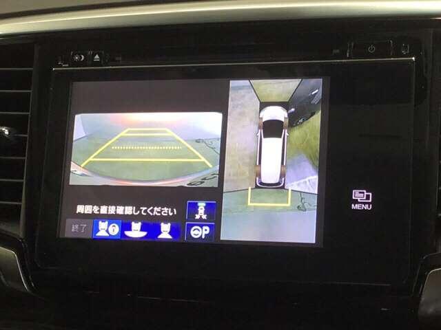 ハイブリッドアブソルート・ホンダセンシングEXパック ワンオーナー 7インチナビ/Bluetooth・DVD再生・フルセグ対応/ マルチビューカメラ 両側電動スライドドア Fドライブレコーダー 衝突軽減ブレーキ(車線認識) クルーズコントロール(4枚目)