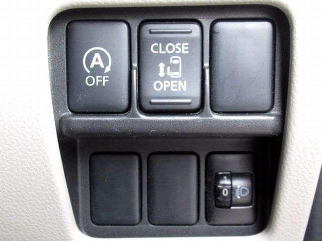 アイドリングストップに、スライドドアは運転席からも操作可能。対向車にやししいヘッドライトレベライザー。