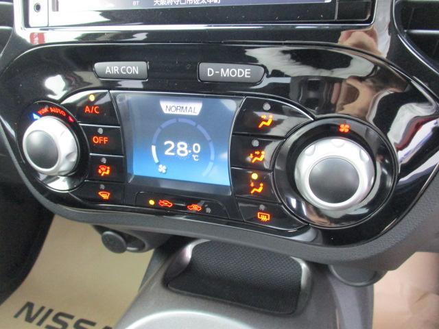インテリジェントコントロールディスプレイ☆ドライブモード選択や車両情報表示、エアコン操作など、ジュークとのコミュニケーションをこちらから深めることができます♪